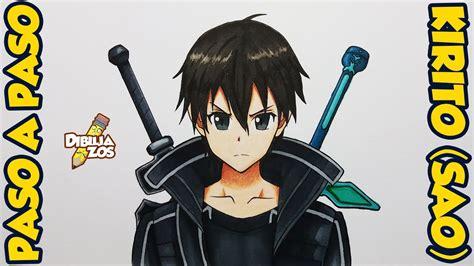 imagenes para dibujar de kirito como dibujar a kirito sword art online sao paso a