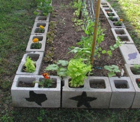 13 Ideas Con Ladrillos Para El Jard 237 N Gardens Sons And Mint Cinder Block Vegetable Garden