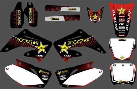 Decal 250 Karbu One new style team graphics backgrounds decals stickers kits for honda cr125 cr250 2002 2003 2004