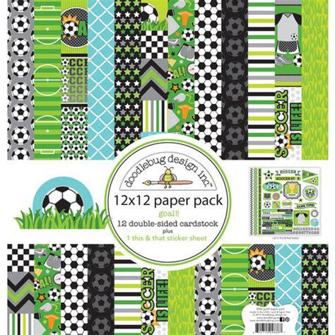 doodlebug paper packs doodlebug design goal 12 x 12 paper pack