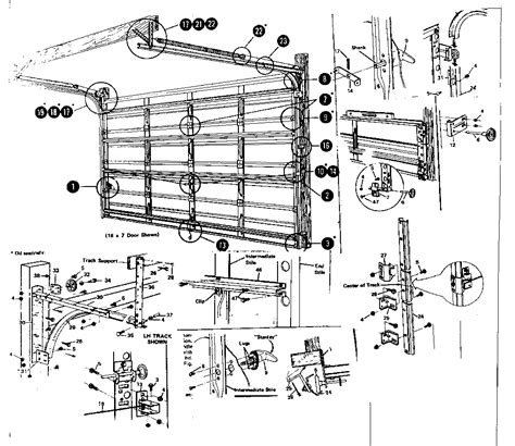 Overhead Garage Door Diagram Overhead Garage Door Panel Garage Door Parts