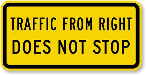 Does It Stop by Traffic From Right Does Not Stop Sign Mutcd Traffic