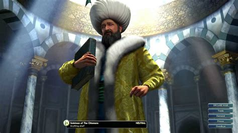 ottomans civ 5 civilization v leader suleiman of the ottomans youtube
