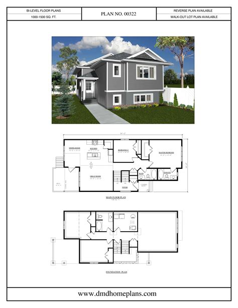 bi level home plans bi level plans dmd home plans