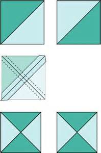 make simple quarter square triangle units