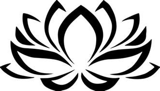 Lotus Flower Representation Lotus Flower Symbol Clipart Best