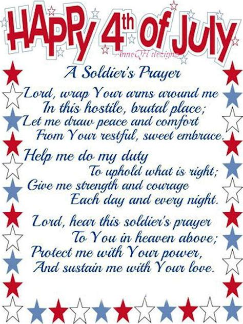 happy   july  soldiers prayer pictures