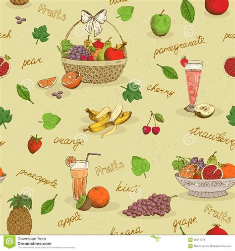 background pattern names fruits seamless pattern with names royalty free stock