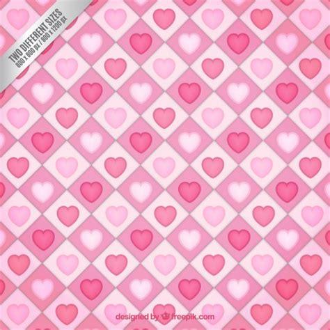 pattern cute pink vector cute pink hearts pattern vector premium download