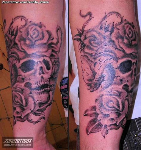 tatuajes de calaveras y rosas hombres tatuaje rosas tattoo pictures to pin on pinterest