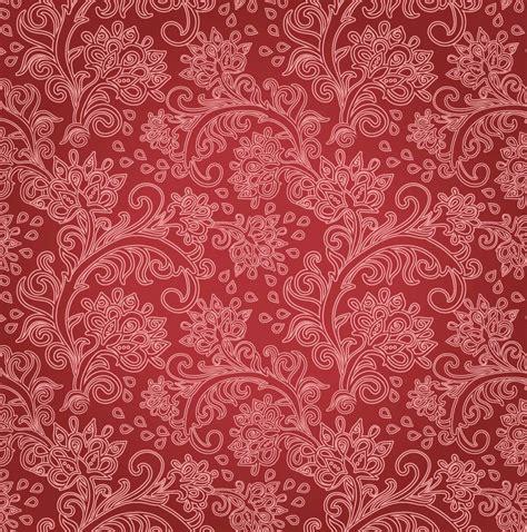 vintage patterned digital paper free vintage floral red floral background