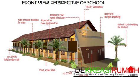 desain gambar sekolah desain fasad gedung sekolah 2 lantai modern minimalis