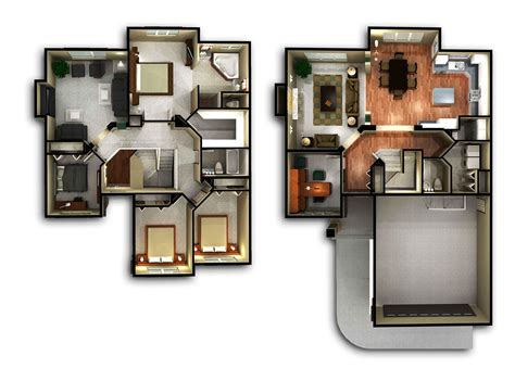 3 Bedroom Ranch Home Floor Plans by 2 Story House Floor Plans Interior Design