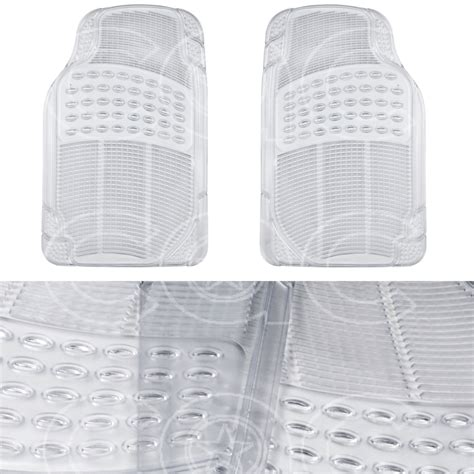 Clear Rubber Mats by Clear Rubber Car Floor Mats Front 2 Set All Weather
