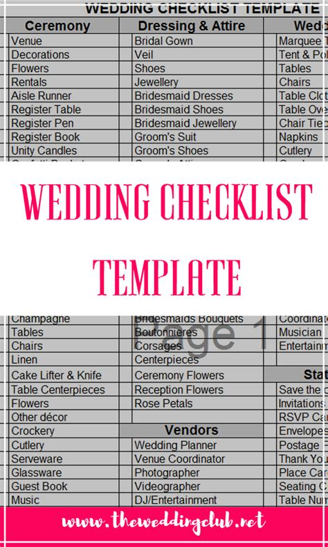 wedding checklist template the complete guide to wedding binder printables the