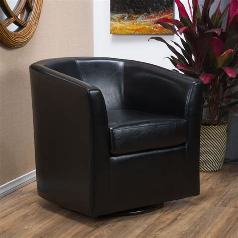 swivel chair ebay contemporary black leather swivel club chair ebay