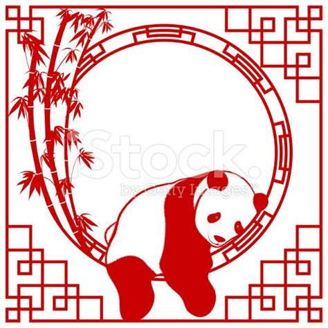 chinese design panda art frame chinese paper cutting and chinese paper