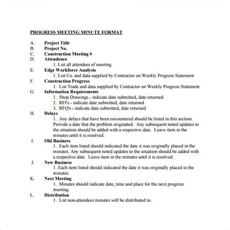 minute of meeting template doc meeting minutes template doc template design