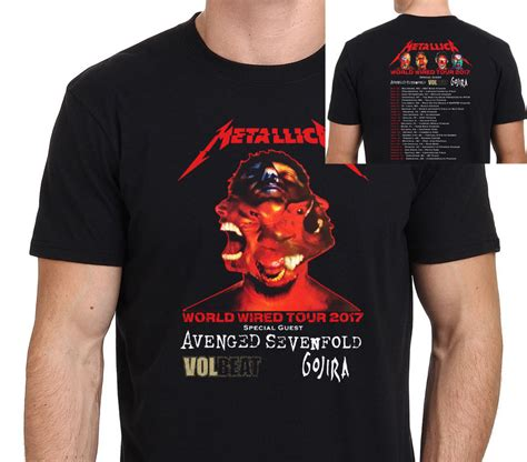 Only 2 Sides Tshirt Size S metallica world wired tour 2017 with dates t shirt two sides casual 100 cotton usa size