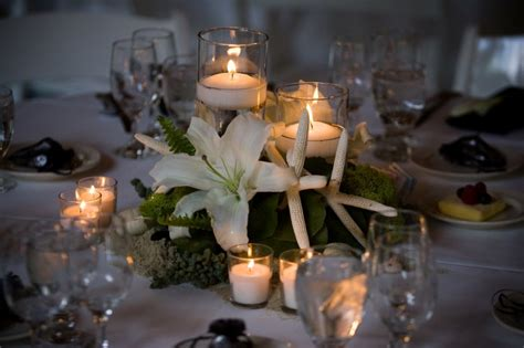 interior luxurious wedding centerpieces with candles for
