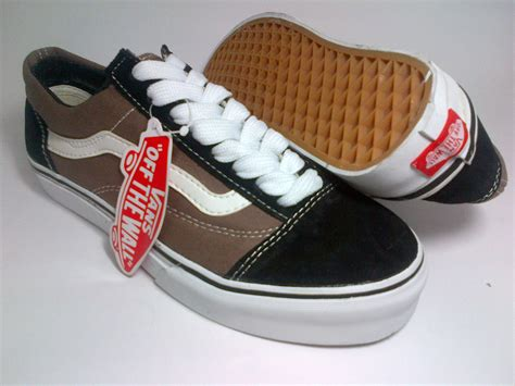 Sepatu Vans Lengkap vans skool black brown shoes shop id