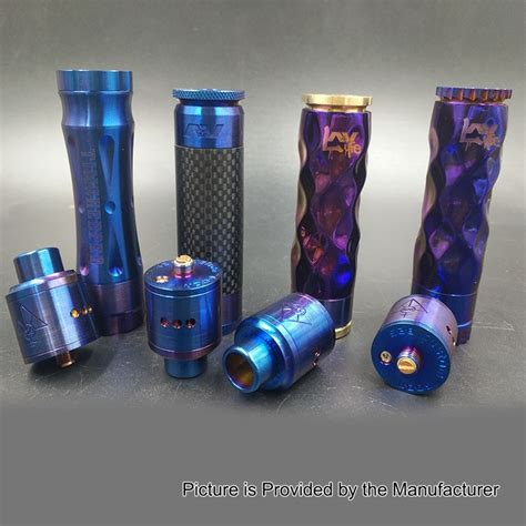 Paket Ngebul Mechanical Av Lyfe Mod Kit Rda Druga Lg Charger Liquif av lyfe dimple style enamel blue mechanical mod goon 24mm rda kit