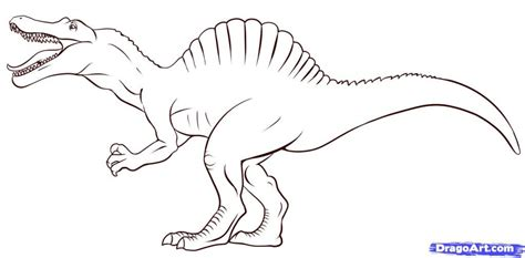 Drawing Dinosaurs by Spinosaurus Coloring Pages Bebo Pandco