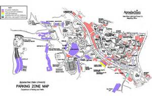 Appalachian State Campus Map by Campus Parking Map Parking Amp Traffic Appalachian State