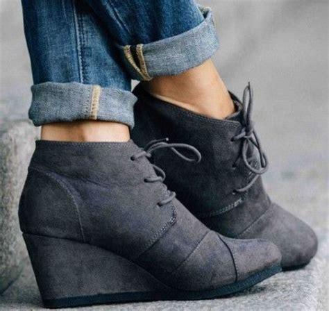 Wedges Boots Zliper Blue Grey best 25 gray wedges ideas on summer wedges