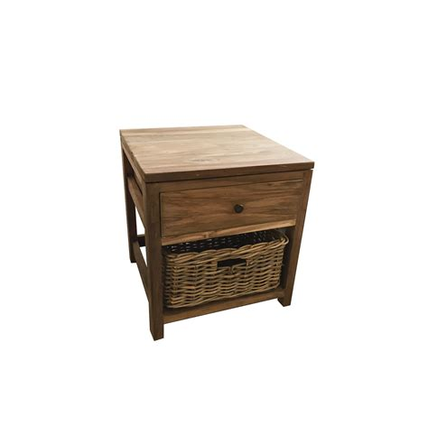 Bedroom Table Ls Rustic by Rustic Bedside Table 100 Reclaimed Teak Ombak Furniture