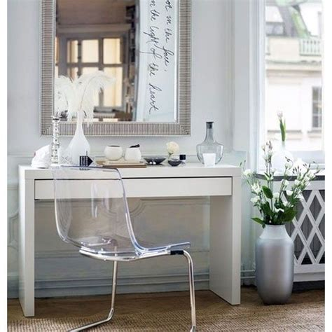 Glass Top Vanity Table Ikea Malm Dressing Table Vanity Glass Top Desk White Ebay
