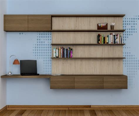 Bookshelf Design contemporary and colorful study table design ideas