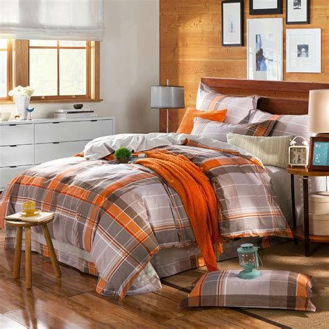 gray and orange comforter gray orange bedding promotion shop for promotional gray