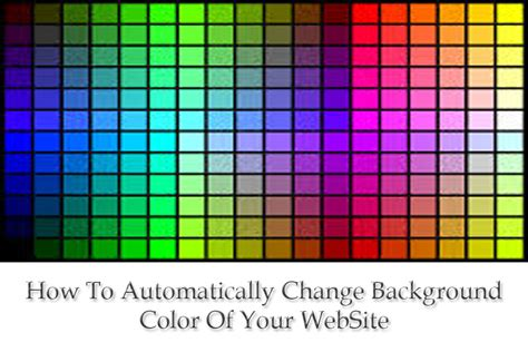 jquery background color how to automatically change background colour of website