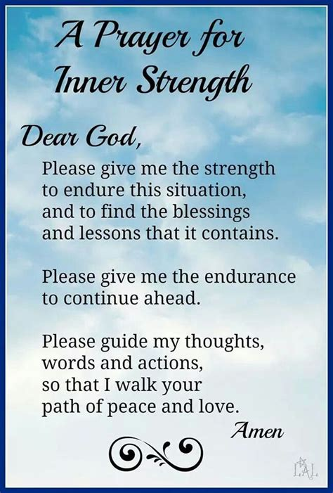 prayers for strength and comfort a prayer for inner strength prayers for comfort hope