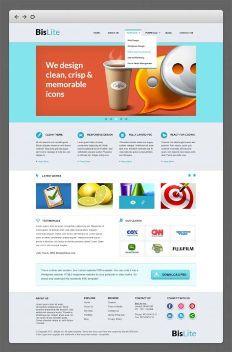 free website templates home design free bislite business website psd templates at freepsd cc