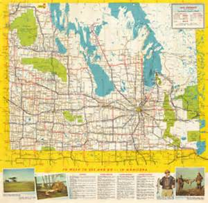 Low Media Cabinet Historical Highway Maps Of Manitoba Manitoba