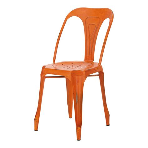orange chaise industrial chair in orange multipls multipl s maisons