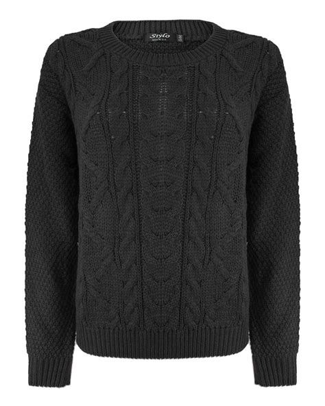 Gray Wool Knit Top S607 grey cable knit jumper crochet and knit