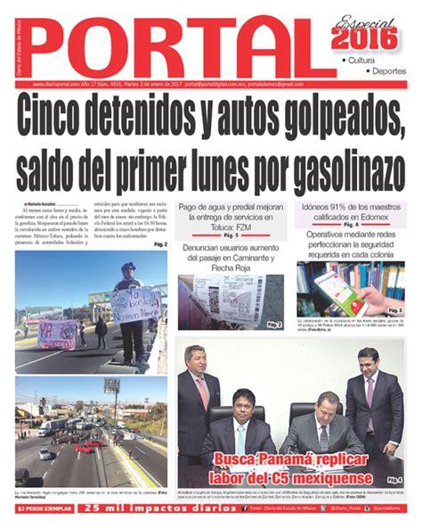 portal diario del estado de mexico diario del estado portal diario del estado de mexico portada martes 3 de