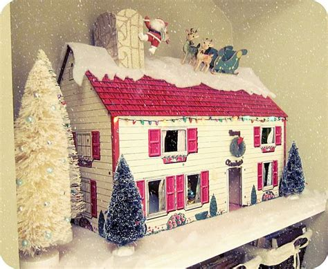 dollhouse decorated for christmas christmas dollhouse