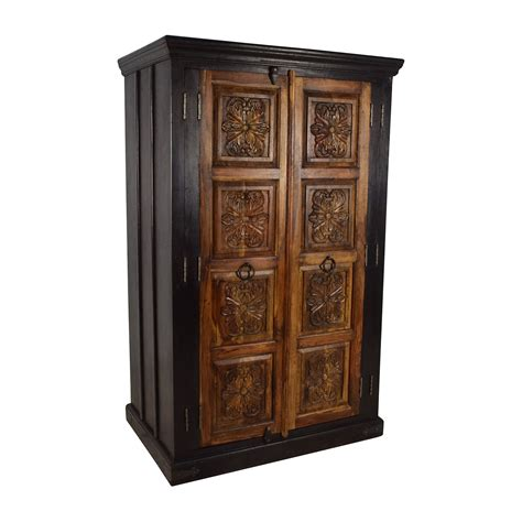 hardwood armoire 74 off large carved wooden armoire storage