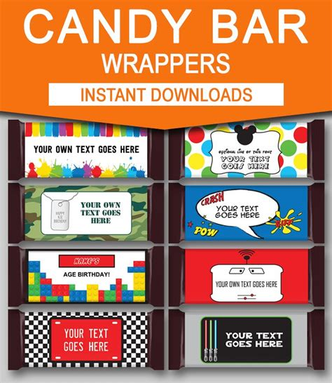 25 best ideas about candy bar labels on pinterest candy