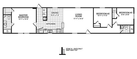 3 bedroom trailer floor plans 3 bedroom mobile home floor plan manufactured home and