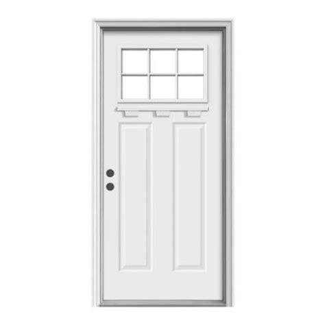 Craftsman Door Dentil Shelf by Jeld Wen 36 In X 80 In Craftsman 6 Lite Primed Premium