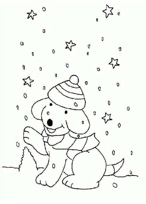 download spot the dog enyoing the snowy day coloring pages