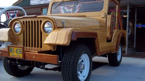 Wooden Jeep 1960 Willys 4x4 Made Of Wood G503 Vehicle
