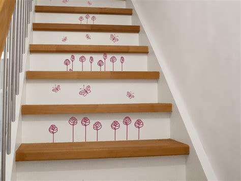 treppenstufen deko treppenstufen bekleben mit wandtattoos