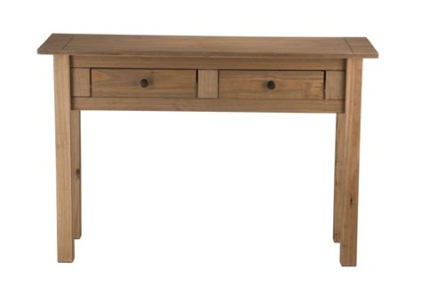 panama console table 2 drawer solid waxed pine rustic birlea santiago 2 drawer hall console table corona mexican