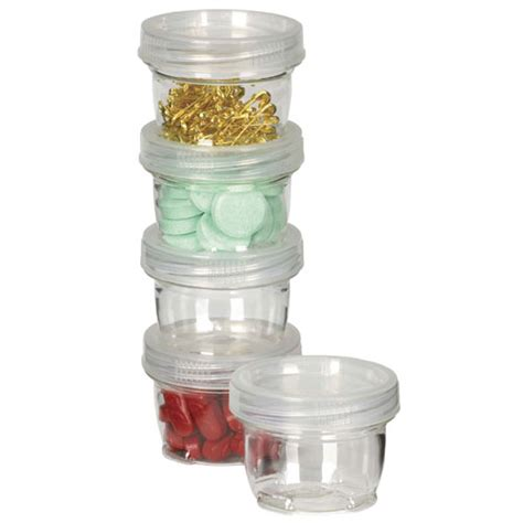 Plastic Kitchen Canisters by Small Lock Ups Stackable Plastic Containers Set Of 5 In